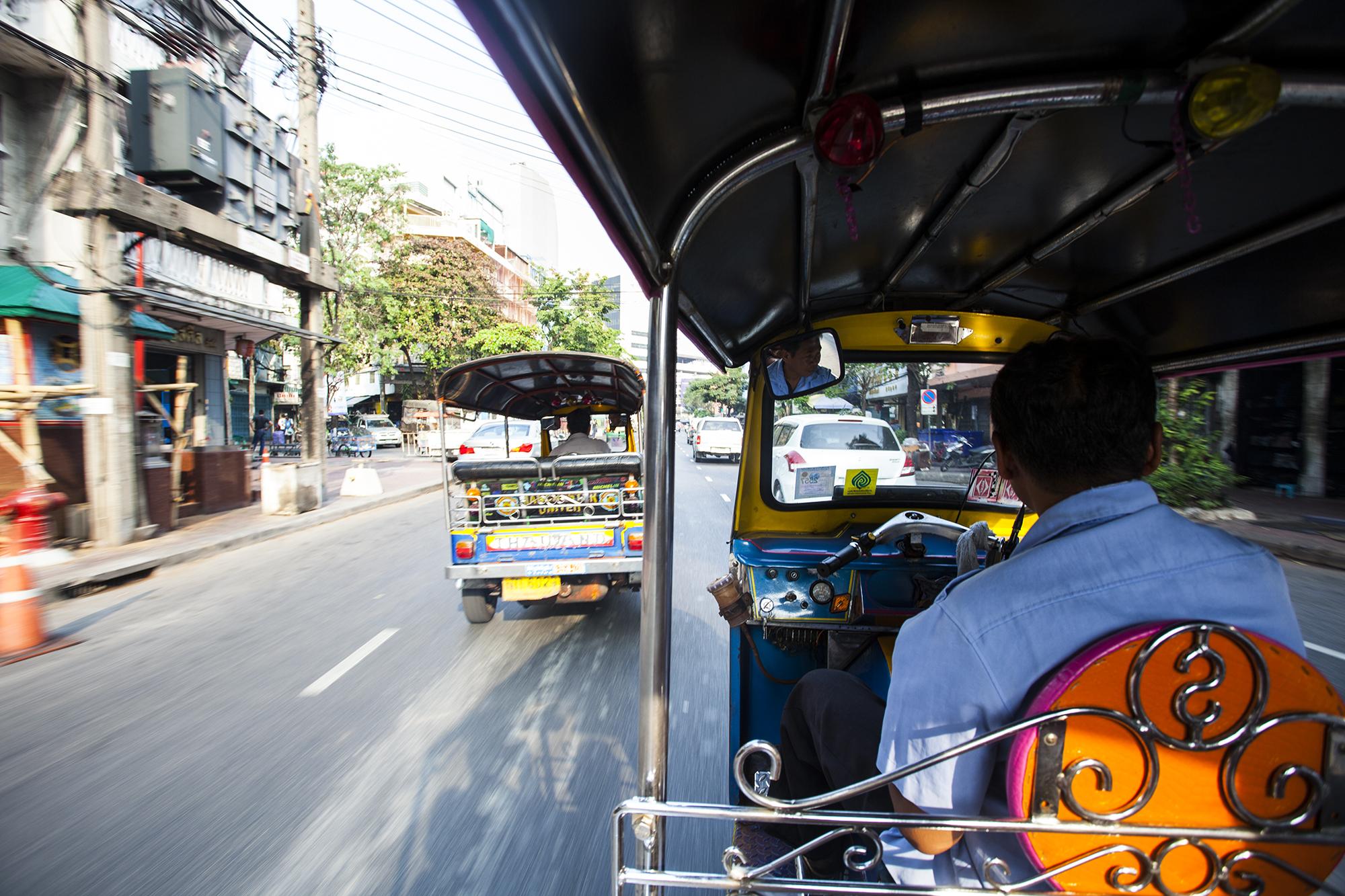 En tuk tuk Bangkok