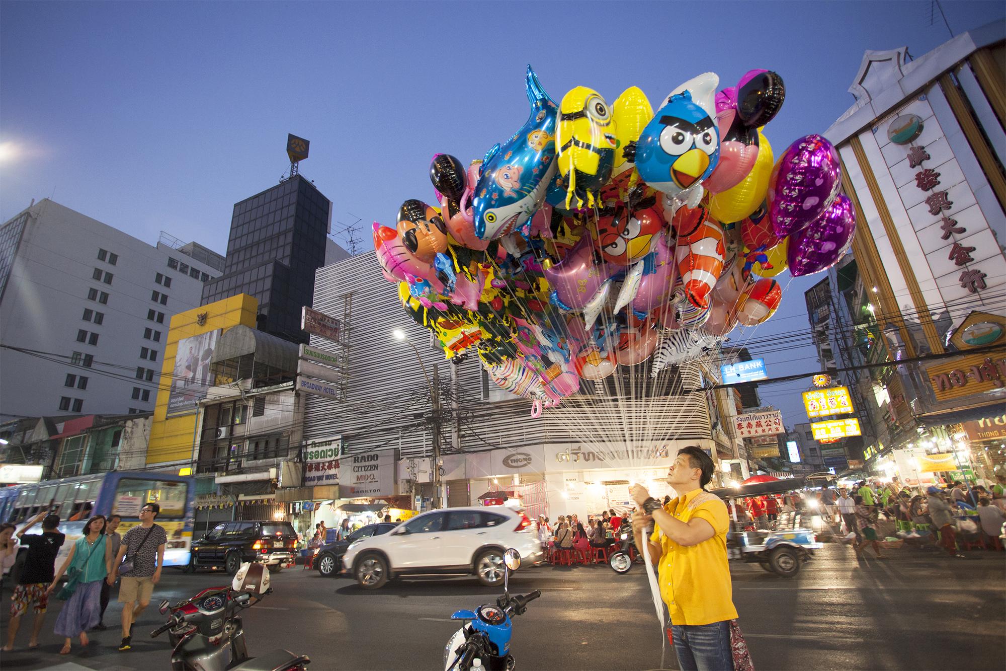 Bangkok Vendedor de globos